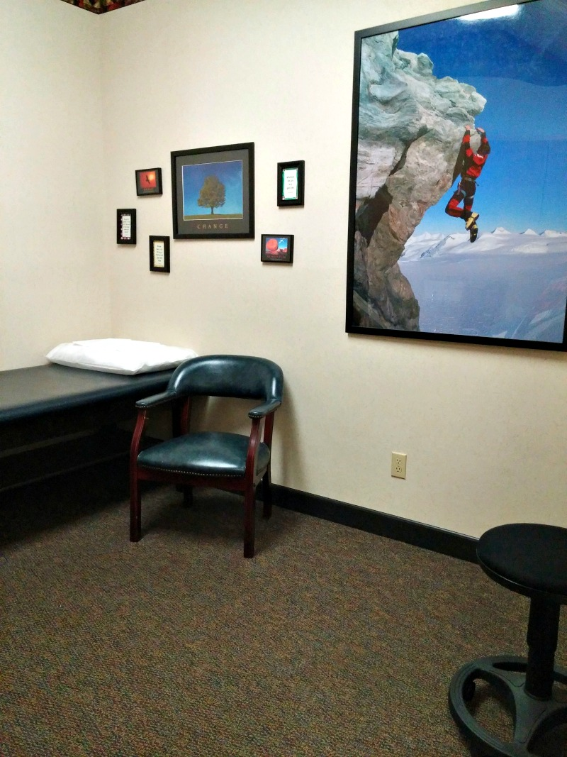 Dr. Hipke's medical clinic offers a relaxed patient room where you can look through high school annuals or solve the challenging puzzles.